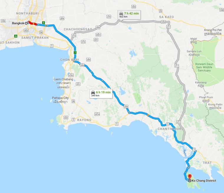 Ko Change Route Map