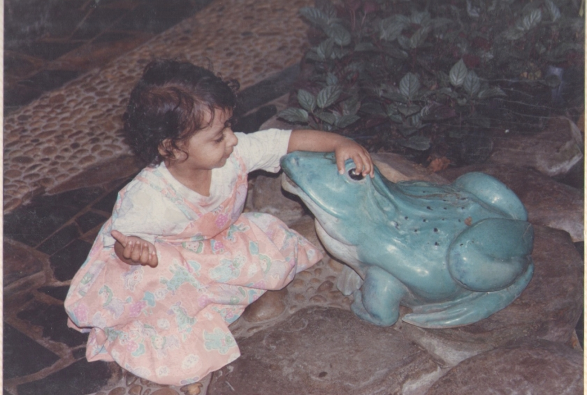 Riya had just about started going to school at that time