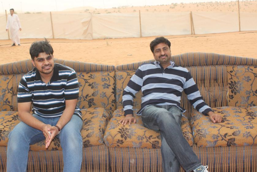 Bilal Ahmed from Pakistan and Navas Rahiman (from India)