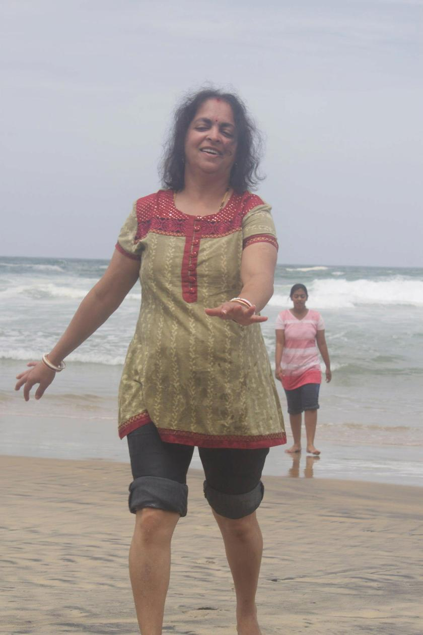 Deepshree at Kovalam Beach