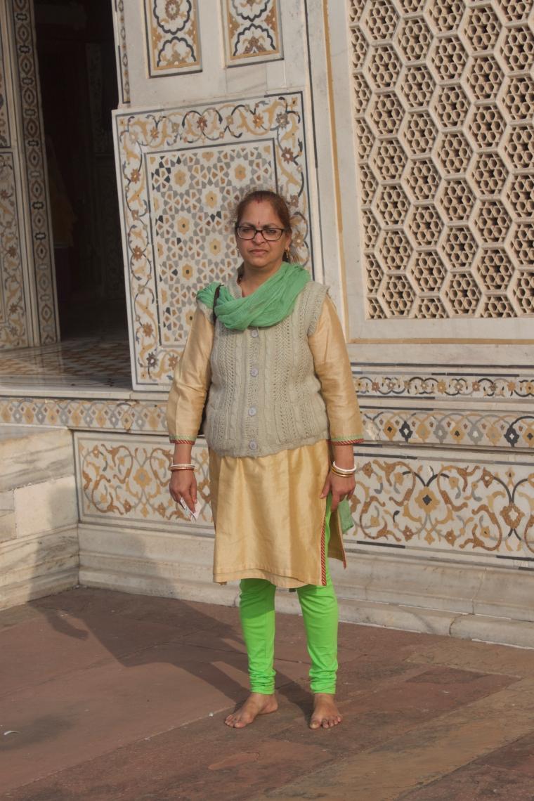 Outside walls of Itmad-ud-Daulah
