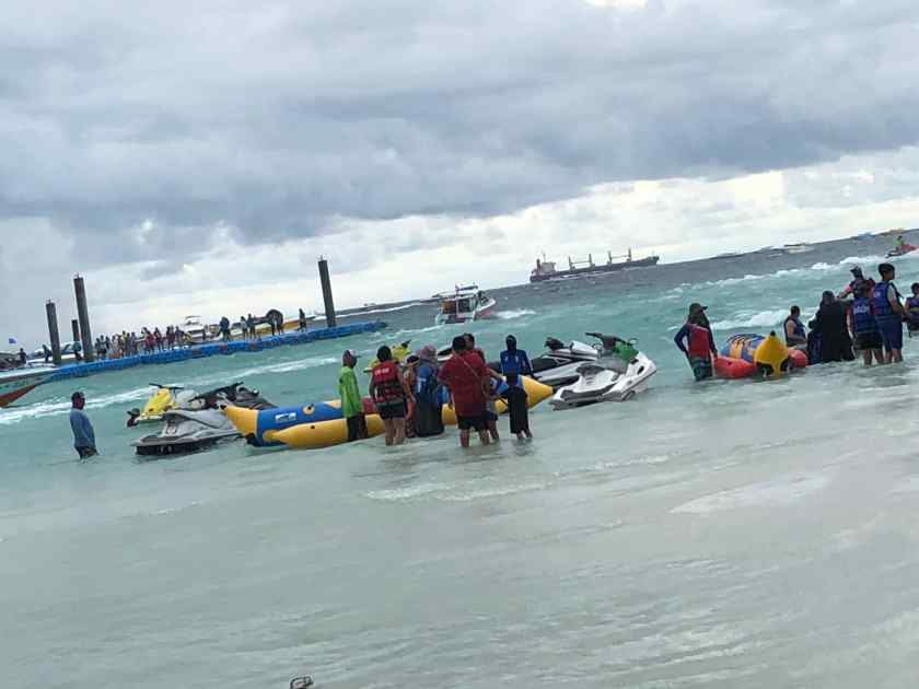 Water Scooters at Coral Island