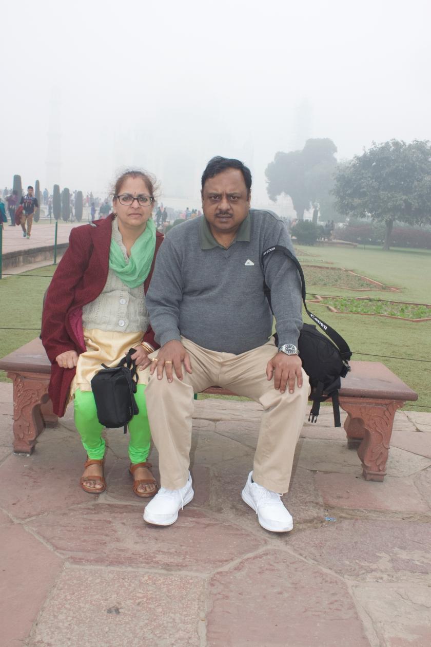 At the Entrance of Taj Mahal
