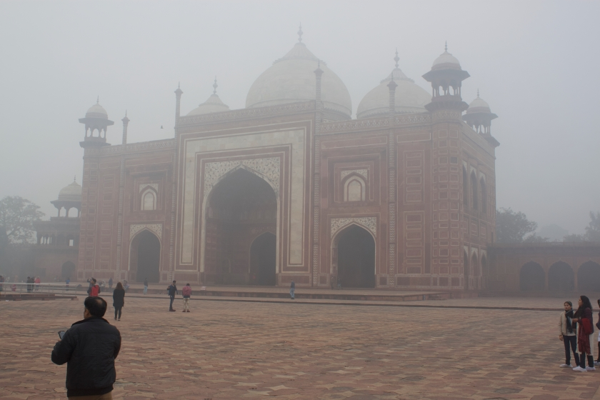 Around the Main Mausoleum of Taj Mahal