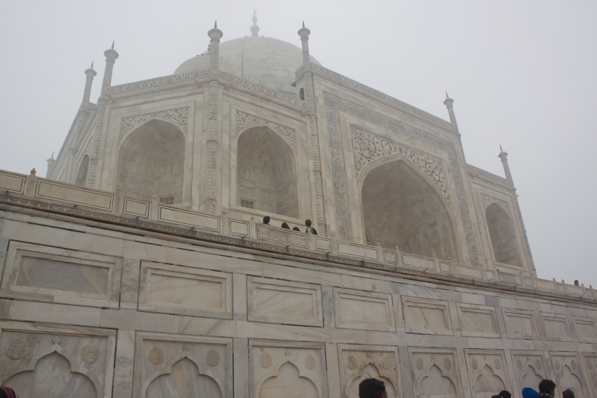 Entering to the Main Mausoleum of Taj Mahal