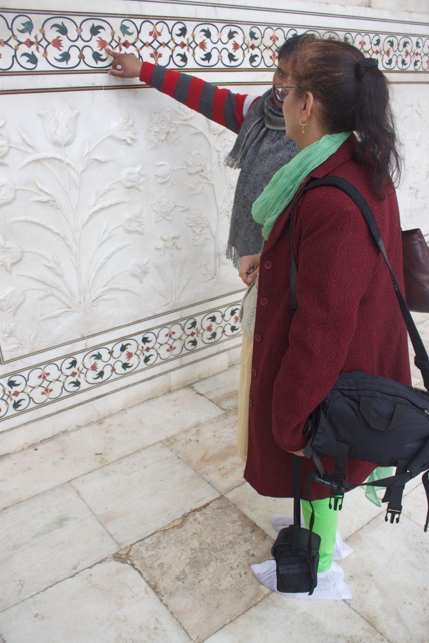 The Walls of the Main Mausoleum of Taj Mahal