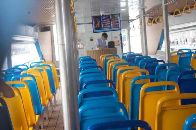 Inside the Hop On Hop Off Boat