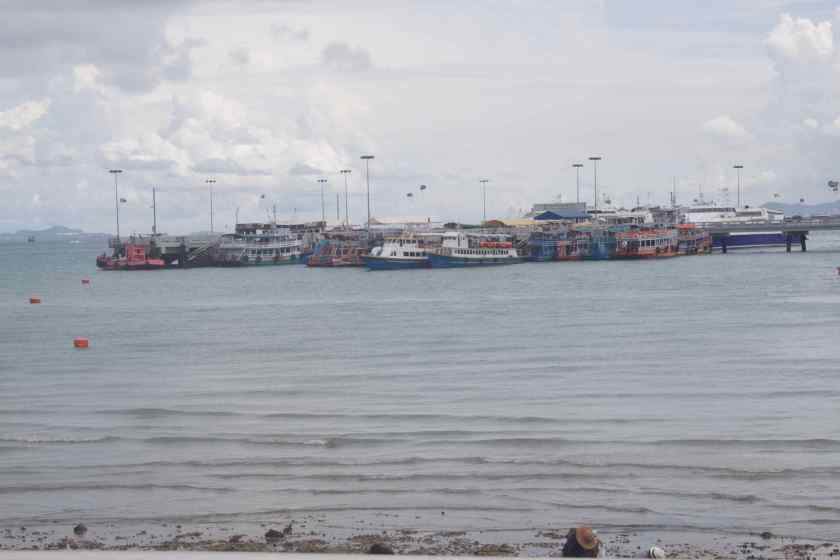 Boats around the Pattaya Pier