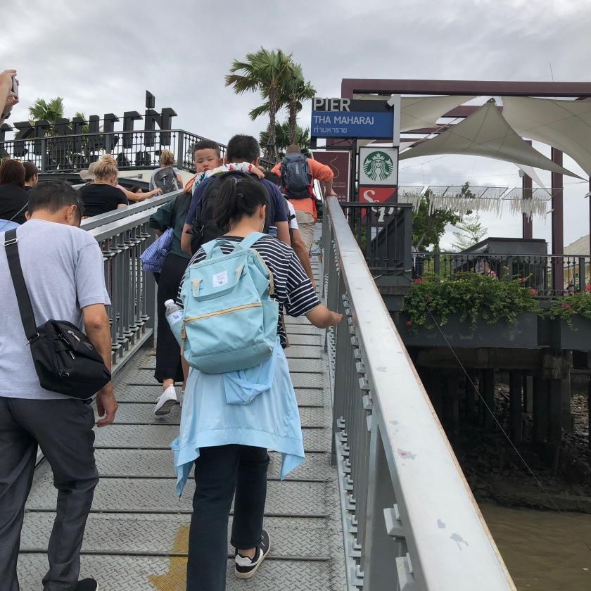 Getting off at Maharaj Pier