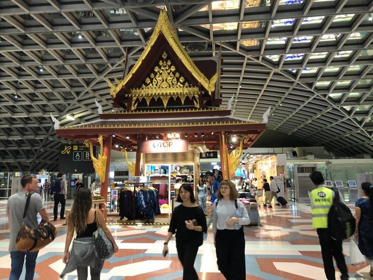 Inside the Suvarnabhumi Airport Departure Lounge