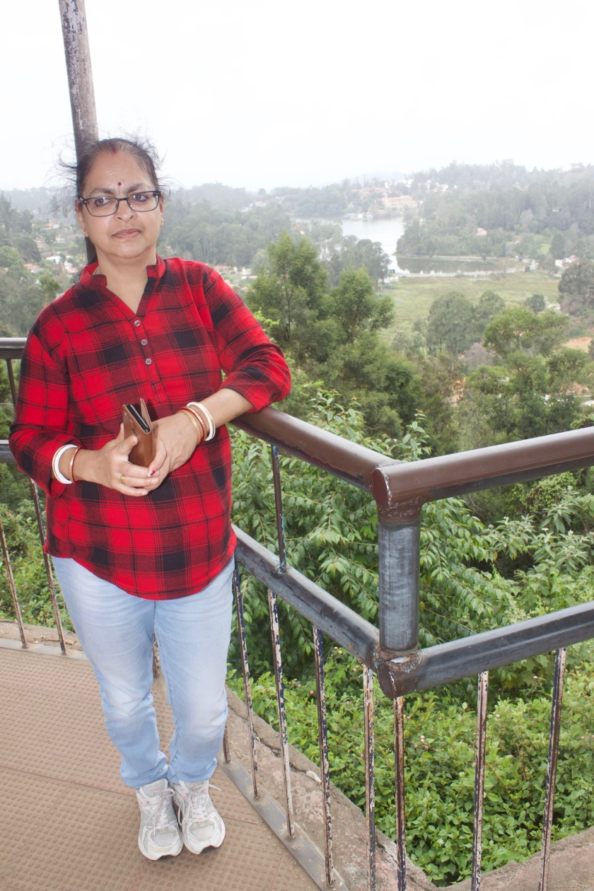 At view point with Kodaikanal Lake in the background
