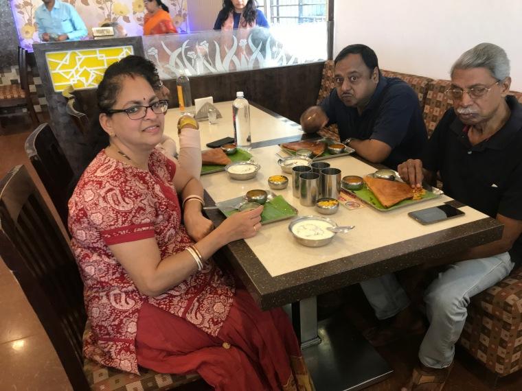 Eating at Nandi Grand