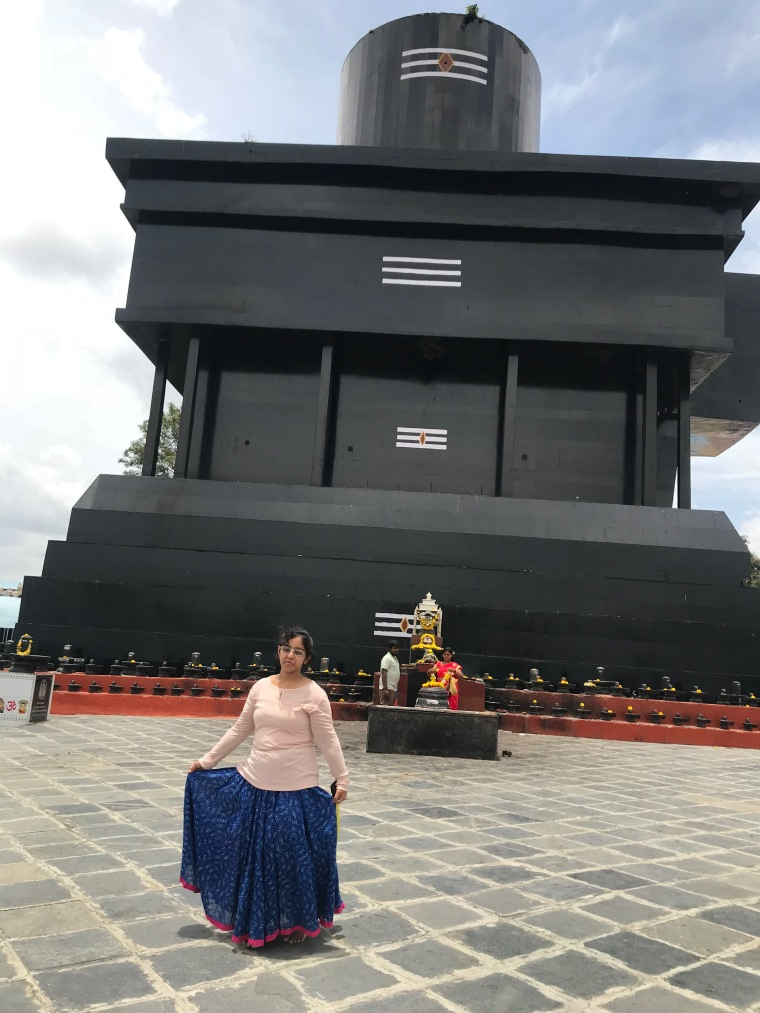 Huge Shiva Linga in the center of the Open Field at Kotilingeshwara